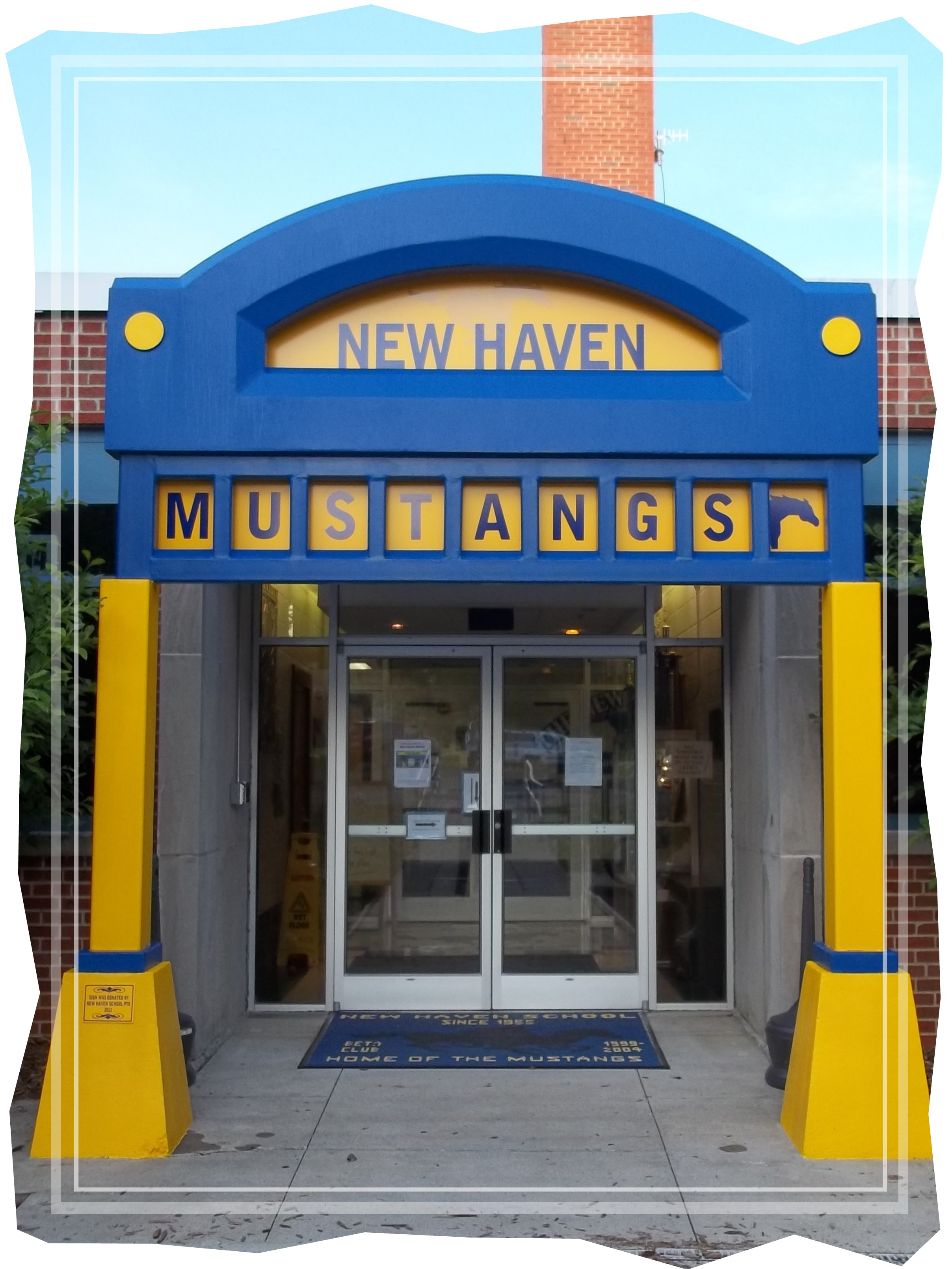 New Haven School Entrance