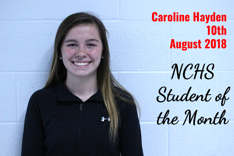 Caroline Hayden - 10th Grade - Student of the Month