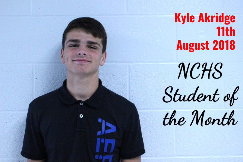 Kyle Akridge - 11th Grade - Student of the Month