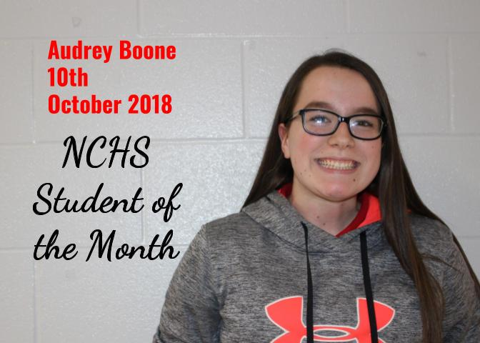 Audrey Boone - Student of the Month