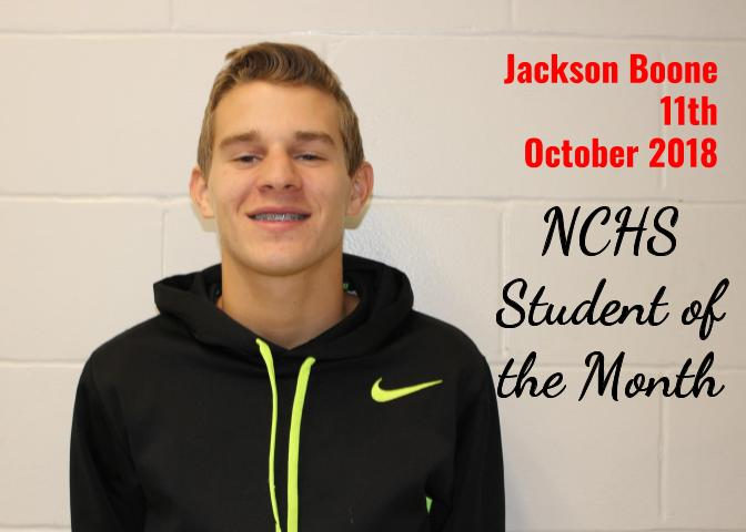 Jackson Boone - Student of the Month