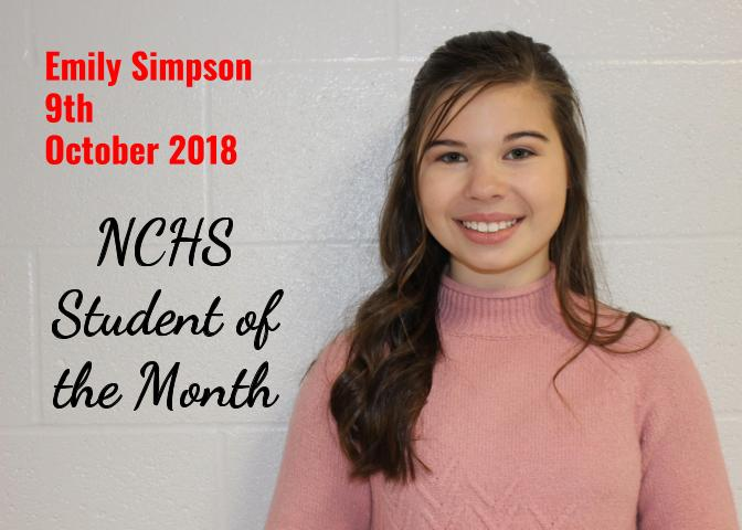 Emily Simpson - Student of the Month