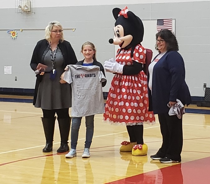 Kinslee Burns is Bloomfield Elementary's NCPride Student for November 2nd