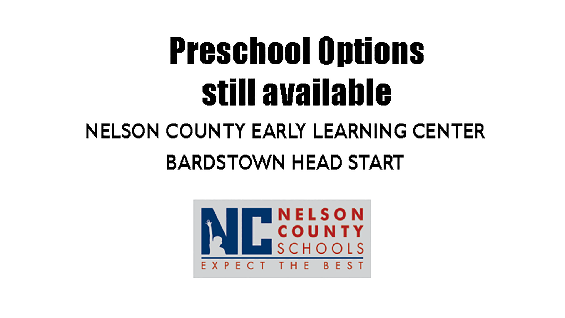 Preschool Options Still Available