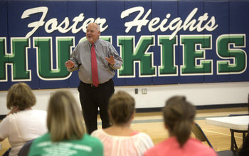 Brown greets FHES staff