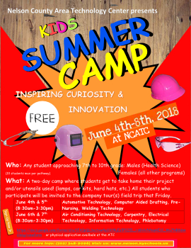 Non-traditional KIds Camps Flyer