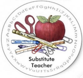 Substitute teachers needed logo
